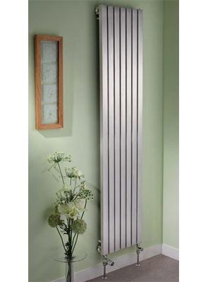 Apollo Ferrara 300 x 1400mm Vertical Stainless Steel Radiator