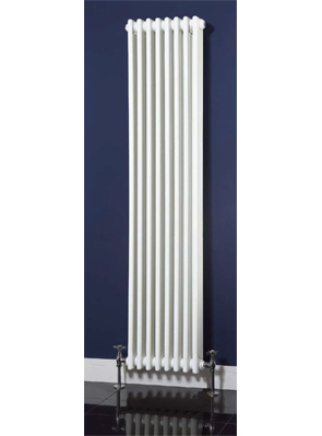 Phoenix Nicole Vertical 376 x 1800mm White 3 Column Radiator
