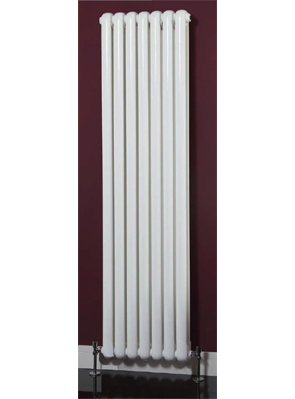 Phoenix Lilly Vertical 437 x 1800mm White Designer Radiator