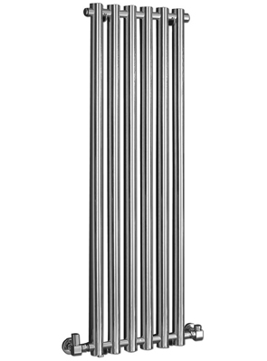 Phoenix Mia 400 x 1200mm Chrome Wall Mounted Designer Radiator