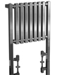 Phoenix Ava 600 x 800mm Chrome Floor Standing Designer Radiator