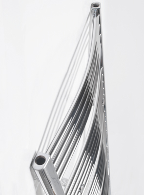Tivolis Chrome Curved Towel Rail 400 x 600mm