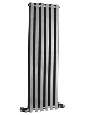 Phoenix Ava 400 x 1200mm Chrome Wall Mounted Designer Radiator