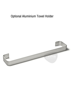 MHS Bryola 600 x 1800 White Aluminium Vertical Designer Radiator