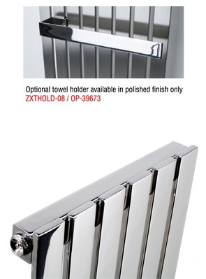 MHS Arturo Brushed Stainless Steel Radiator 490 x 600mm