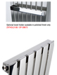 MHS Arturo Brushed Stainless Steel Radiator 590 x 1000mm