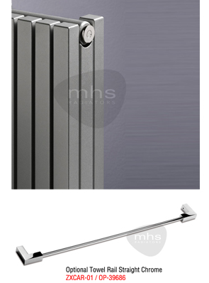 MHS Carissa Anthracite Vertical Designer Radiator 595 x 1800mm