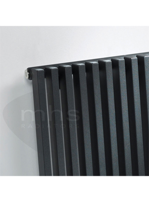 MHS Zenon Line Horizontal Single Anthracite Designer Radiator 1184 x 600mm