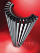 MHS Zenon Line Semi-Round Anthracite Designer Radiator 393 x 1800mm
