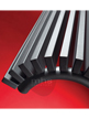 MHS Zenon Line Angled Anthracite Designer Radiator 268 x 1400mm