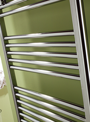 MHS Space 600 x 1800mm Straight Heated Towel Rail Chrome