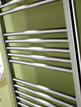 MHS Space 450 x 1200mm Straight Dual Fuel Towel Rail Chrome