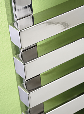 MHS Square 500 x 800mm Polished Stainless Steel Heated Towel Rail