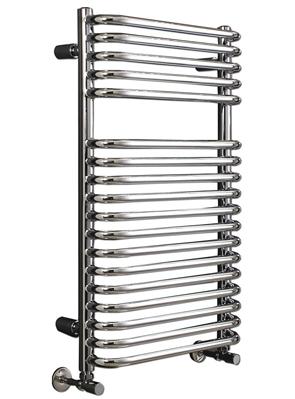 Phoenix Crysta 500 x 800mm Designer Heated Towel Rail