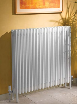 Apollo Roma 6 Column 25 Section White Radiator With Feet 1200 X 900mm