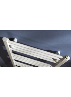 MHS Space Straight Electric Adjustable Towel Rail White 600 x 770mm
