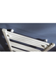 MHS Space Straight Dual Fuel Adjustable Towel Rail White 450 x 1800mm