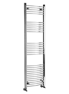 Phoenix Gina Curved 500 x 1500mm Chrome Heated Towel Rail