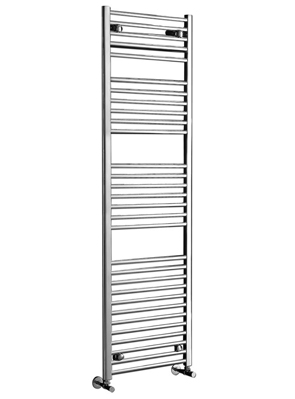 Phoenix Flavia Straight 600 x 1200mm White Heated Towel Rail