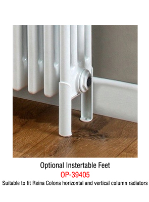 Reina Colona White 4 Column Horizontal Radiator 1370 x 500mm