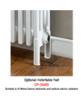 Reina Colona White 4 Column Horizontal Radiator 605 x 600mm