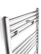 Tivolis Straight Chrome Heated Towel Rail 400 x 1800mm