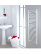 Biasi Naonis 400 x 800mm White Straight Heated Towel Rail