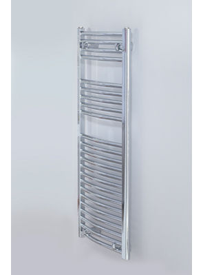 Biasi Naonis 600 x 1400mm Chrome Curved Heated Towel Rail