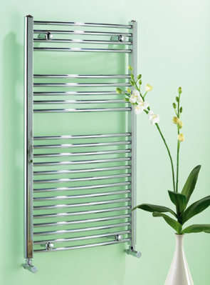 Biasi Dolomite 500 x 800mm Chrome Curved Heated Towel Rail