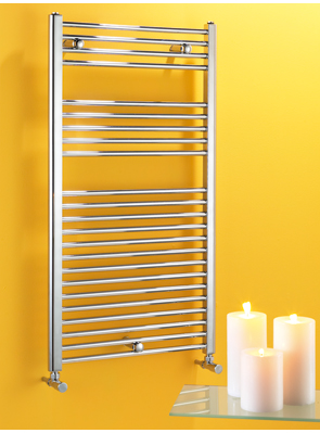 Biasi Dolomite 300 x 1100mm Chrome Straight Heated Towel Rail