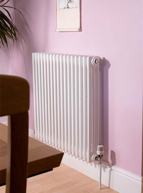 Apollo Roma 3 Column 600 x 600mm Horizontal Steel Radiator